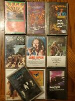 70's and More Rock Cassette Lot Of 10 Van Halen Santa Janis Joplin Beetles Abby