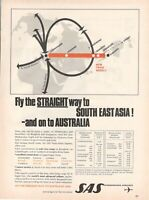 1968 Original Advertising' SAS Scandinavian Airlines System Company Aerial South