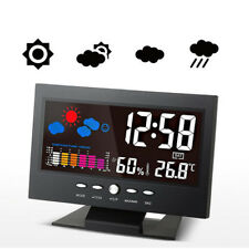 Mini LCD Thermometer Meter Room Humidity Hygrometer Indoor/Outdoor Snooze Clock