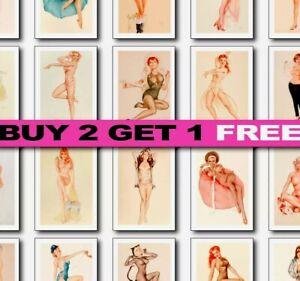 Vintage Pin Up Girl Prints, Pin Up Art Prints, Wall Art, Rockabilly Prints