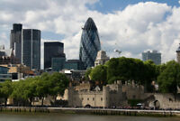 London England Skyline Gherkin Tower of London Photo Art Print Poster 18x12 inch