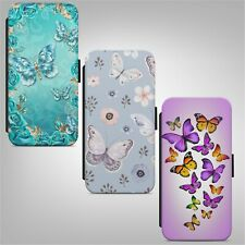 Beautiful Butterfly Print FLIP WALLET PHONE CASE COVER FOR IPHONE SAMSUNG HUAWEI