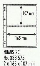 LIGHTHOUSE NUMIS 2 Pocket POSTCARD PAGES Pack 10 NH02 Safe & Acid Free