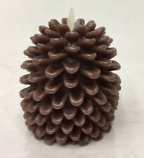Luminara 5-Inch Real-Flame Pine Cone Candle Battery Operated