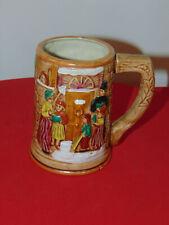 VINTAGE CHRISTMAS CAROLERS BEER ALE STEIN