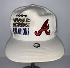 New listing Vintage 1995 Atlanta Braves World Series Snapback Hat Cap MLB Baseball With Tags