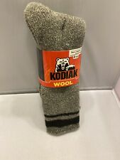 Kodiak Men Wool Socks Shoe Size 7-12