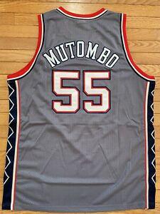 Authentic Reebok Jersey NJ Brooklyn Nets Dikembe Mutombo Size 52 New