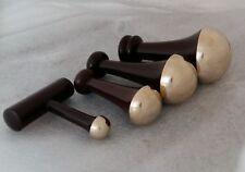 Kansa Ayurveda Massager Bronze Wand Body Wands Massage Wooden Handle 4 sizes