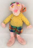 """Vintage RARE Pink Panther Golfer Golf Plush Animal U.A.C Kuddle Me Toys 1999 20"""""""