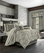 J Queen New York Brandon 4 Pc Comforter Set California King Grey/Cream $635