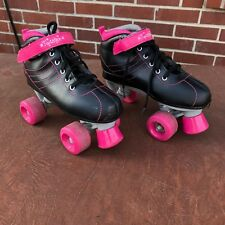 Ozone 500 twister Roller skates girls Size 4 great condition color black & pink