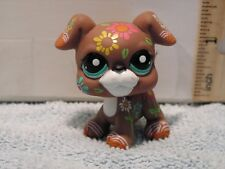 LITTLEST PET SHOP LPS PUPPY DOG WITH FLOWER PAINT 03001 TOY