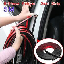 5M Trim Moulding Trunk Hood Car Door Edge B Shape Rubber Weatherstrip Seal Strip