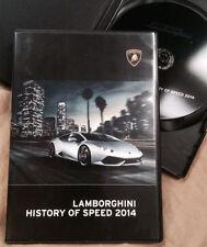 2014 Lamborghini 'History of Speed 2014' Promotional Video DVD - no brochure
