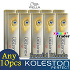 Any 10pcs - Wella Koleston Perfect Permanent Hair Color Dye 60g Special Blonde