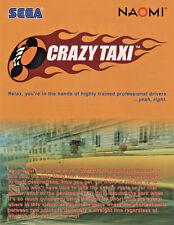 Sega CRAZY TAXI Original 1999 Original NOS Video Arcade Game Promo Sales Flyer