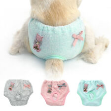 Soft Dog Sanitary Velvet Nappy Diaper Physiological Dog Pants Clothes S M L