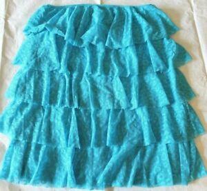 Womens skirt VICTORIAS SECRET size MEDIUM blue layered NEW $69  (ba59)