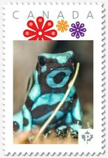 AQUA-GREEN DART FROG Picture Postage stamp Canada 2018 [p18-07s01]