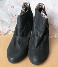Lovely pair of black fashion ankle boots from George. Size 5 worn once