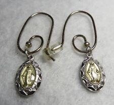 Custom Alex and Ani - Pandora Sterling Silver Miraculous Medal Mini Earrings