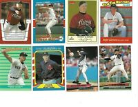 Roger Clemens Fleer lot 0f 25 cards all Different Boston redsox Astros Yankees
