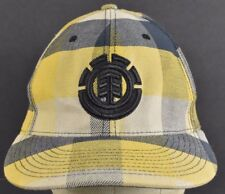 Yellow Plaid Element Skateboards Co Logo Embroidered Baseball hat cap Fitted