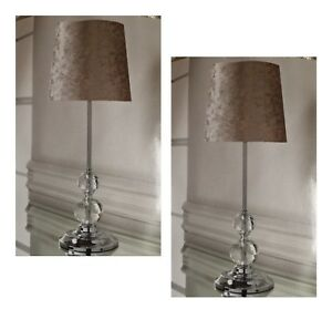 Luxe Crystal Crushed Velvet Table Lamp Bedside Tablelamp Gold - 2 Lamp Bundle