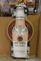 "Bacardi Silver Coctail Beverage Bottle Tin Metal Bar Sign 36 X 17"" Man Cave"