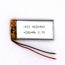 3.7V 280 mAh Li-Polymer 402040 Li Po Battery Rechargeable for GPS Bluetooth MP3