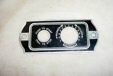 Vintage Car Heater Face Plate