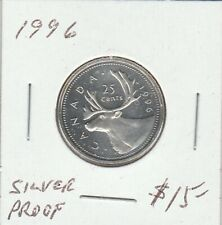 Canada 1996 25 Cents Proof Silver