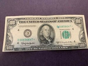 1950D $100 Star Note with Low Serial Number, Federal Reserve Bank Cleveland