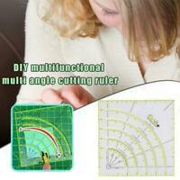 Universal Patchwork Quiltlineal Rollschneider Mehrwinkel Bogen Schneidlineal