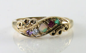 DIVINE 9K 9CT GOLD Adore ART DECO INS ETERNITY GYPSY BAND RING FREE RESIZE