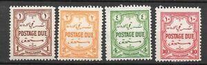 Transjordan   1929   D189 - D192   LMMint Cat £25