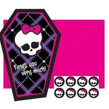 MONSTER HIGH PARTY Fangs you very much Thank You Cards Pack of 8 with Envelopes