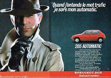 PUBLICITE ADVERTISING 0217  1986  la Peugeot 205 automatic (2 pages)