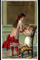 IMAGE CHROMO CHOCOLAT POULAIN / ENFANT & BEBE à la PRIERE