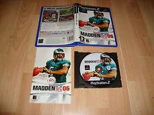 MADDEN NFL 2006 FUTBOL AMERICANO DE EA SPORTS PARA LA SONY PS2 USADO COMPLETO