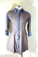LOUIS VUITTON Light Modal Cotton Denim Jacket Mini Dress Top Blouse 38 4 5 6