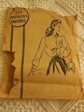 patron ancien blouse chemisier  taille 44 Les patrons favoris