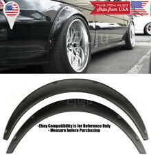 """2 Pcs 2.75"""" Wide ABS Black Flexible Fender Flares Extension For Toyota Scion"""