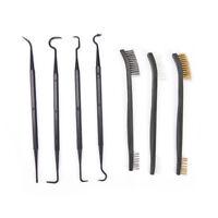 Gun Cleaning Tool Double-end 3pcs Steel Wire Brush & 4pcs Nylon Pick Set Pip XBh