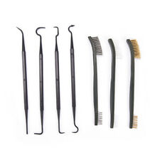 Gun Cleaning Tool Double-end 3pcs Steel Wire Brush & 4pcs Nylon Pick Set Pip
