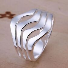 925 Sterling Silver Band  Ring Size 8 Hot Fashion Jewelry  Stunning Gift