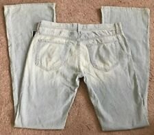 Mother The Crusher On The Road Light Jean Pant NWT Striped Size 29 Boot Wide Leg