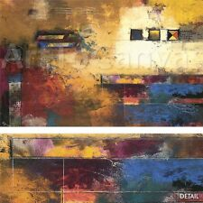 """32""""x20"""" DELINEATION #1 by PIETRO ADAMO ABSTRACT CANVAS"""