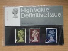 GB 1977 Machin High Value definitives £1 £2 £5 Presentation Pack 91